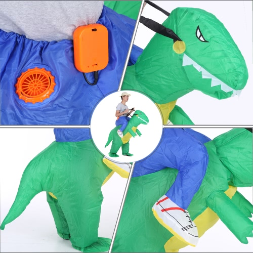 Cute Adult Inflatable Dinosaur Costume Suit Air Fan Operated Walking Fancy  Dress Halloween Party Outfit T-Rex Inflatable Animal Costume 64583e213f45
