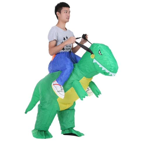Decdeal Cute Kids Inflatable Dinosaur Costume Suit Air Fan Operated Walking Fancy Dress Halloween Party Outfit T-Rex Inflatable Animal Costume