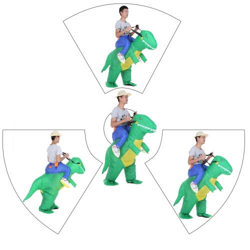 Cute Adult Inflatable Dinosaur Costume Suit Air Fan Operated Walking Fancy Dress Halloween Party Outfit T-Rex Inflatable Animal Costume