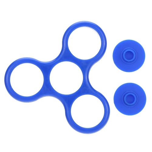Рама с двумя кнопками Caps Обложки для мини пальцев рук Tri-Spinner Непоседа Игрушка EDC Рука Desktoy Фокус Стресс тревоги помощи аксессуары набор 608