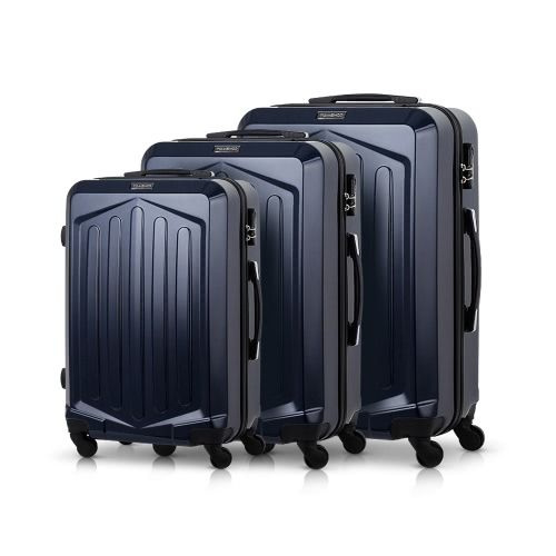 TOMSHOO Luxury 3PCS Spinner Luggage Set Hard Shell 20