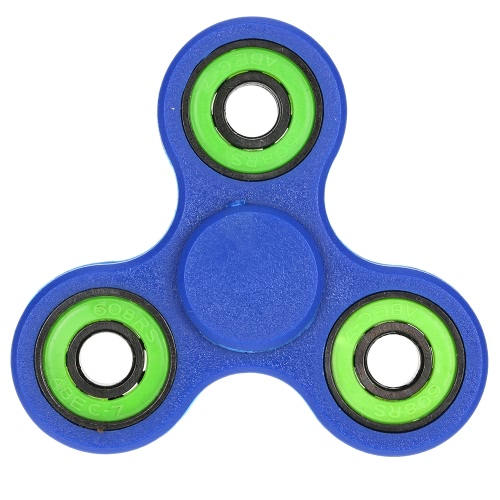 Tri Finger Spinner Fidget Toy High Quality Hybrid Ceramic Bearing Spin Widget Focus Toy EDC Pocket Desktoy Gift for ADHD Children Adults Compact One Hand Fast Spinning