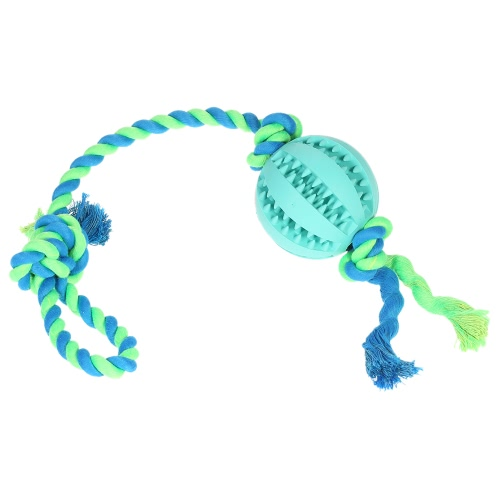 Собака мяч с веревкой Малый выбор и буксир веревки Интерактивный IQ Pet Dog Ball Игрушка Собака Зубы Чистка Chew Toy Non-Toxic Safe Dog Развлекательная игрушка Игрушка мяч Игрушка для собак Кошки