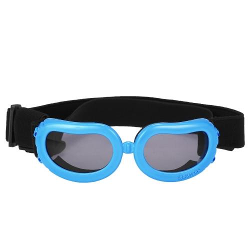 Новые Pet очки Small Dog Sunglasses Anti-Fog против ветра очки глаз Protector водонепроницаемый лыжи ВС Защита от ультрафиолетовых лучей Защитные очки с регулируемыми ремнями для собак или кошек