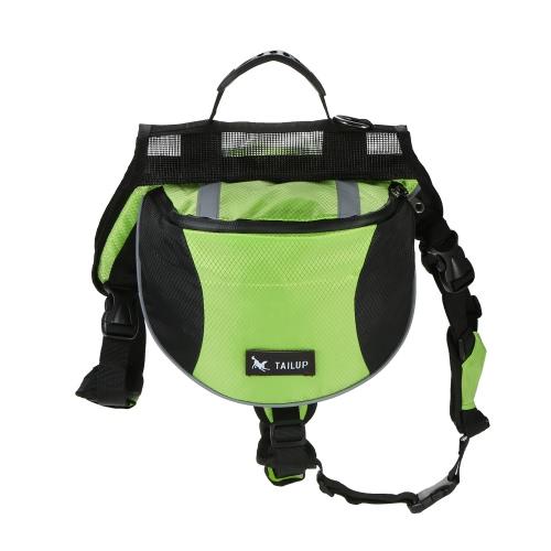 TAILUP Outdoor Pet Dog Sac de selle réglable Sac à dos Medium Large Sized Dogs Harness Saddlebags pour faire de la randonnée pédagogique Camping Voyage Marcher