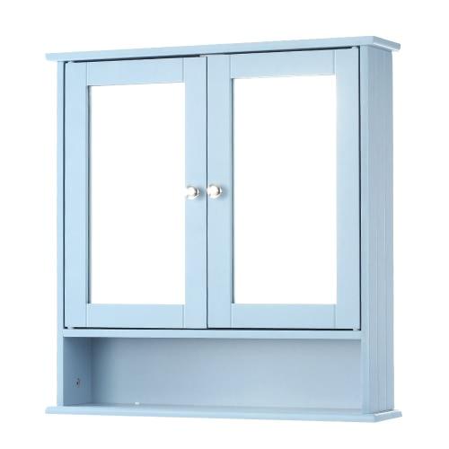 Tomtop Ikayaa Modern 2 Door Wall Cabinet With Glass Doors