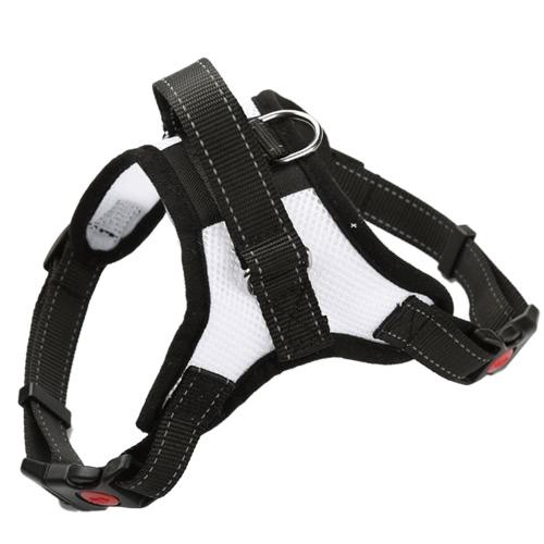 Летняя мягкая регулируемая передняя лента для ремня безопасности для домашних животных с ручкой для больших средних собак. Вентилируемая уличная сумка для повязки.