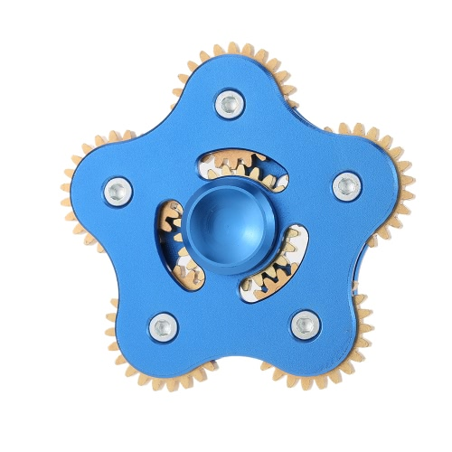 Wheel Gear Toothed Spinner Ultra Durable Fidget EDC ADHD ADD Focus Widget Finger Hand Toy High Speed Stable Spins Stress Reducer Perfect for Anxiety Autism Pentagonal