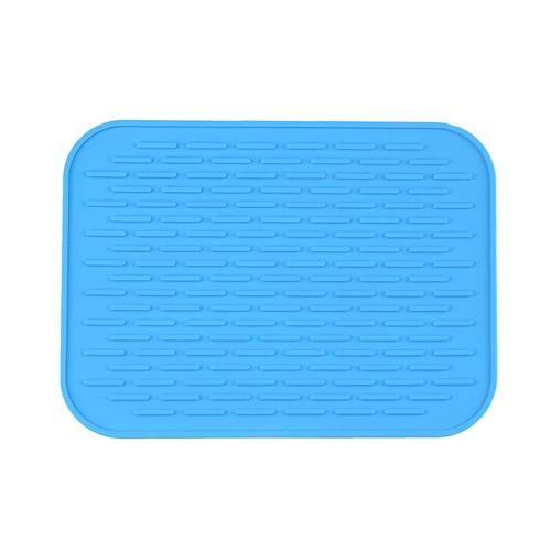 Квадратная полоса Многофункциональная силиконовая жаропрочная подкладка Нескользящая кухня Использование Изоляционная подушка Анти глазированная кастрюля Матовая лоток для подноса Желтая