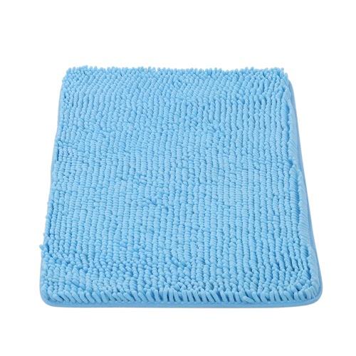 50 * 80センチメートル長方形の柔らかいシャニールバスルームラグ滑り止め吸水性シャギーシャワーマットBathmatバストイレラググレー