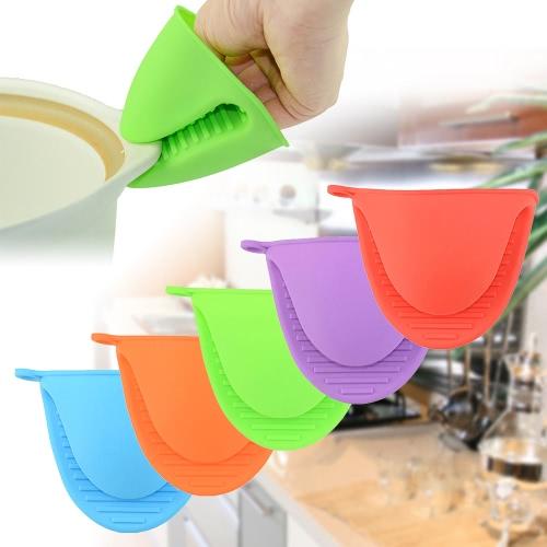 Multi-functional Silicone Heat Resistant Glove Non-slip Kitchen Use Anti-scalding Red