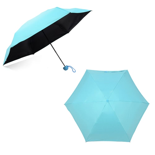 Creative Quality Capsule Mini Pocket Umbrella 5-Folding Anti-UV Umbrellas Women Men Compact Ultra Protective with Waterproof Case