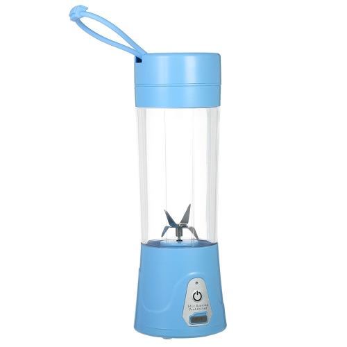 380ml Portable USB Rechargeable Juicer Cup Fruit Juicer Blender Mixer Protein Shakes Maker Bottle for Office Outdoor Travel