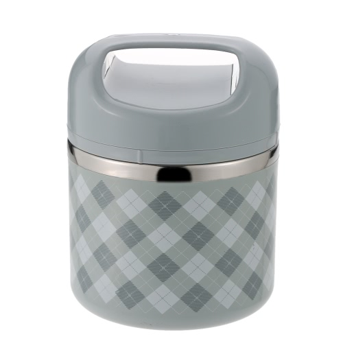 630ml 1-Layer Stainless Steel Lunch Box Handy Insulation Lunch Box Food Box with Handle Travel & To-Go Food Containers