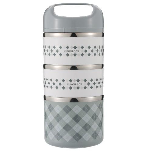1230ml 3-слойная стальная лента из нержавеющей стали Практичная удобная коробка для ящиков с обеденным перерывом с коробкой для пищевых продуктов и контейнеров для транспортировки