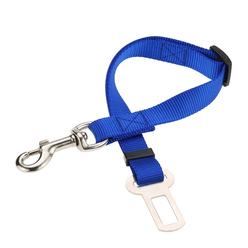 Adjustable Dog Seat Belt Pet Safety Leads Rope Car Vehicle Seatbelt Harness Leash Durable Nylon Material Orange
