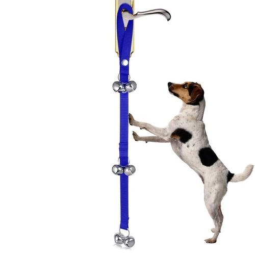 Pet Dog Doorbell щенок дверных колоколов для собак Potty Training Регулируемый нейлоновый ремешок 6шт Extra Loud Bells
