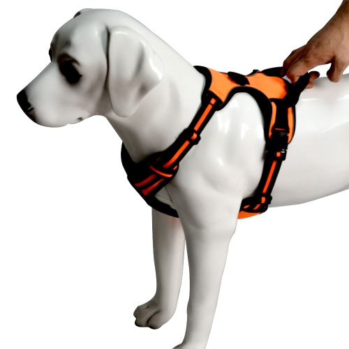 Reflective Dog Harness with Handle Trim Strip No-Pull for Walking Running Hiking Outdoor Activity