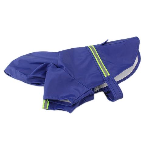 Impermeable para perros de mascota Capa de lluvia de perrito ajustable Abrigo Capa Ropa resistente al agua Ropa de lluvia de poncho con tira reflectante
