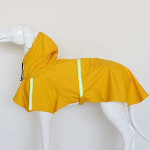Pet Dog Raincoat Adjustable Puppy Rain Jacket Coat Cloak Style Water-resistant Clothes Poncho Rainwear with Reflective Strip
