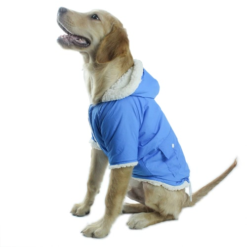Pet Dog Hoodie Puppy Hoodies with Dual Pockets Soft Comfortable Breathable Cotton Coat Jacket Colthing Winter Warm Clothes