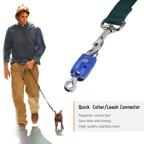 Dog Collar Leash Connector Automatic Magnetic Magic Latch with Fastener Stainless Steel
