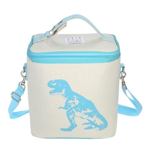Esonmus Портативный утепленный изолированный кулер Lunch Bag Baby Bottle Теплоизоляционная сумка с съемным плечевым ремнем - Rose Red