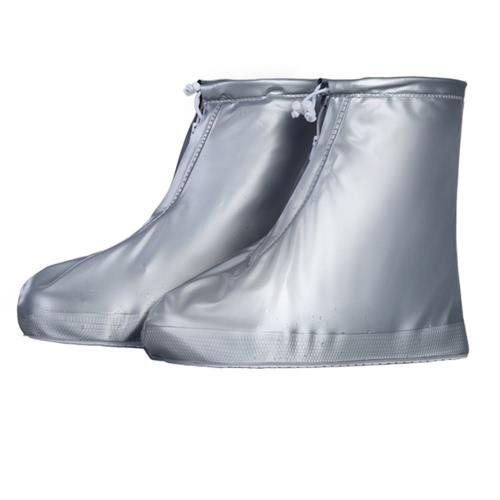 1 paire unisexe imperméable à l'eau résistant à la botte de protection des chaussures couvre-chaussures de pluie couvre-chaussures antidérapants cas