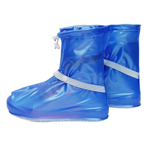 Waterproof Shoes Cover Anti-slip Elastic Strap Shoes Rain Covers Rain Boots for Men Women Boys Girls
