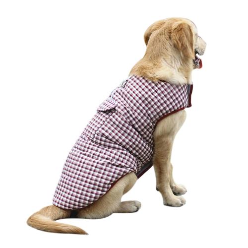 Пальто для собак Пальто с капюшоном Реверсивная зимняя холодная погода Теплые одежды для собак Одежда без рукавов