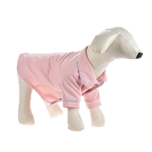 Soft Dog Pajamas Shirt Sleepwear Lightweight with Lapel Button Adopt for Acrylic Fibers & Cotton