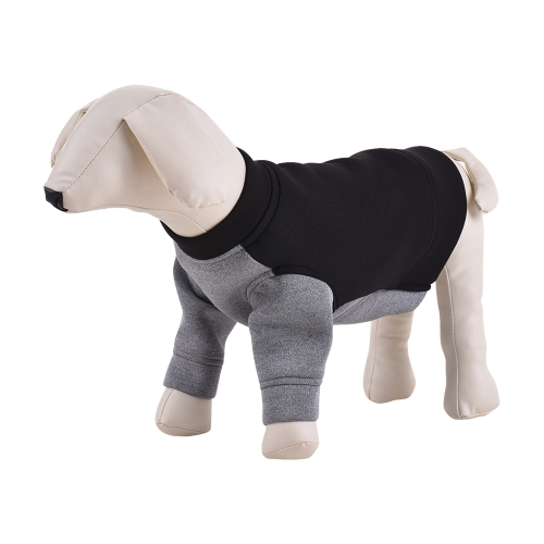 Premium respirant Pet Dog vêtements Hoodie Pull Polaire Couleur Blocage Cute Chiot Costume Fournitures Adopter pour Soft Space Cotton
