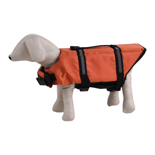 Pets Dog Life Jacket Buoyant Secure Float Vest Outdoor Water Swimming Safety Preserver Adjustable Reflecting Padding Clothing