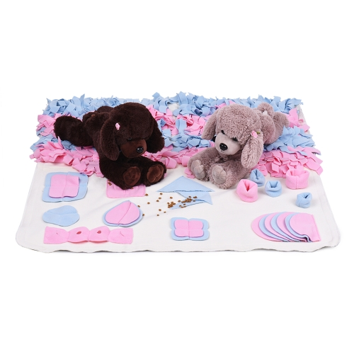 Handmade Dog Play Mat Snuffle Training Feeding Foraging Mat Nose Work Blanket Machine Washable Pet Toys