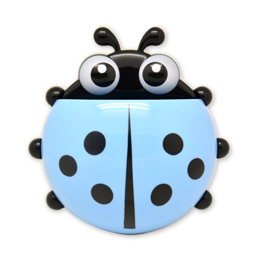 Powerful Suction Cartoon Mini Ladybug Toothbrush Storage Rack Ladybug Toothbrush Toothpaste Plastic Holder