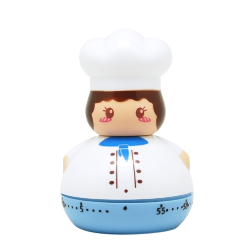 Creative Small Chef Machine Timer Plastic Countdown Timer Lovely Kitchen Cooking Student Homework Timer