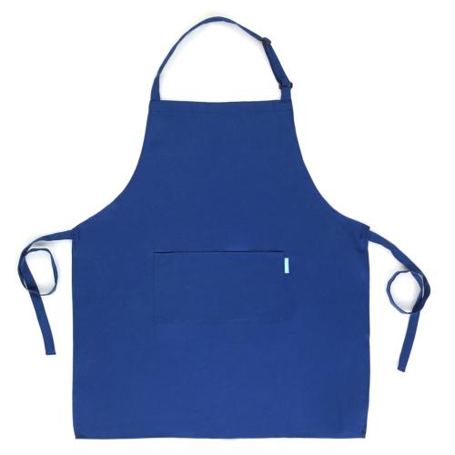 Esonmus Adultos Poliéster Kitchen BBQ Delantal de restaurante con cuello ajustable 2 bolsillos para cocinar Baking Gardening para hombres Mujeres - Blanco