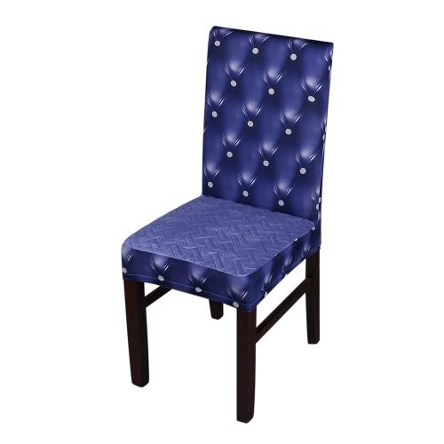 3D-печать Spandex Stretchable Обеденный стул Сиденье Обложки Пылезащитные Церемониальные чехлы Чехлы Защитники Свадебные события Украшение - Серый