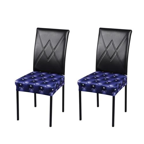 2 sztuk Drukowanie 3D Elastan Stretchable Jadalnia Krzesło Pokrowce Ceremonia Pokrowce Na Krzesła Ochraniacze Wydarzenia Dekoracje Ślubne - Szary