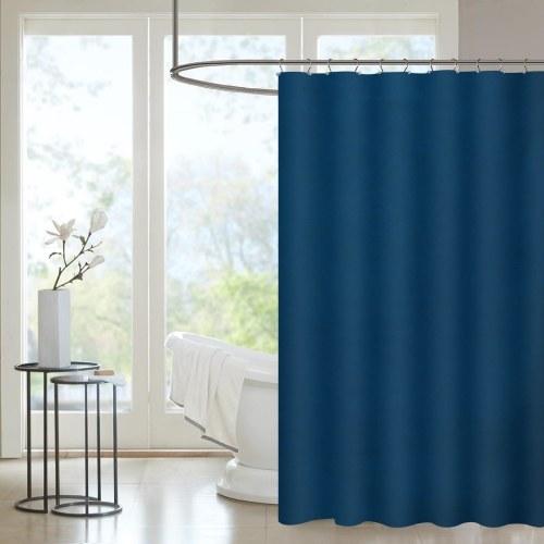 Htovila 72 * 72 '' Polyester Wasserdicht Mildewproof Duschvorhang Dekorative Privatsphäre Bad Vorhang mit 12st Haken - Beige