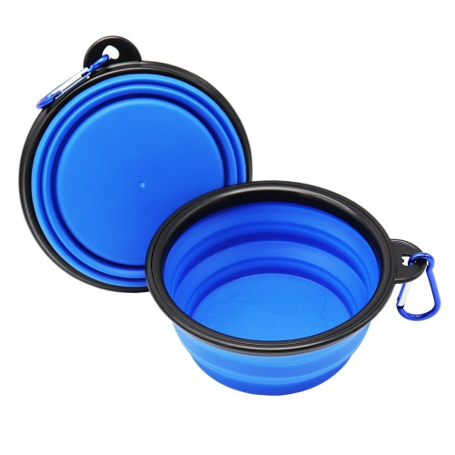 Foldable Silicone Pet Dog Bowl Portable Silicone Pet Bowl Collapsible Dog Food & Water Tool Expandable Cup Dish Plate for Cat Feeding Travel Bowls Red