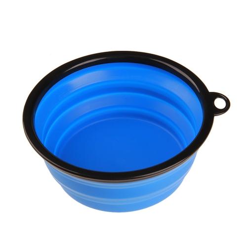 Składany silikonowy miska dla psa Przenośny silikonowy miska dla zwierząt Składana karma dla psów i narzędzie wodne Rozbudowy szklanki Płyta danie dla karmiących kotów Podróże miski czerwony