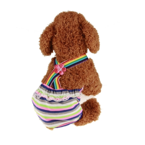 Colorful Comfortable Cosy Pet Dog Cotton Tighten Strap Sanitary Physiological Pants Pet Underwear Diapers