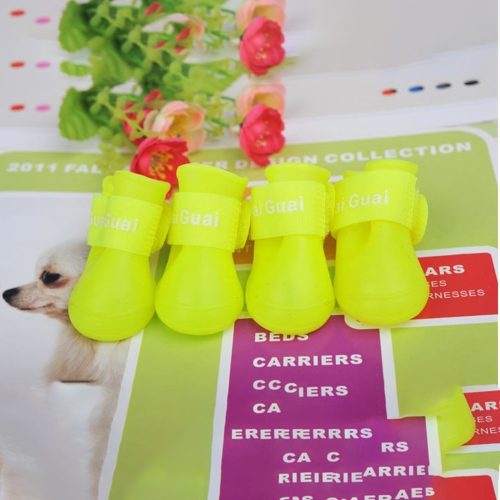 Dog Candy Colors Boots Waterproof Rubber Pet Rain Non-slip Shoes