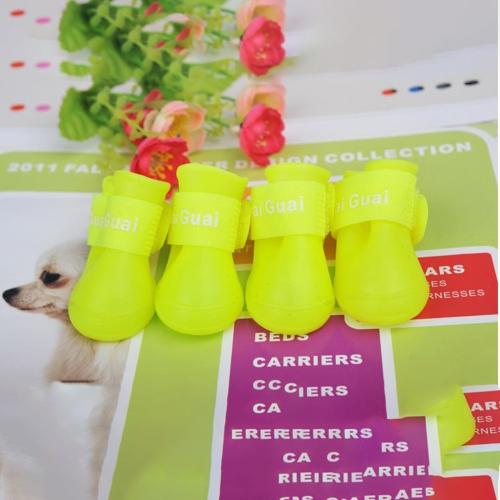 Собака Candy Цвета сапоги Водонепроницаемый резиновый Pet Дождь Нескользящая обувь