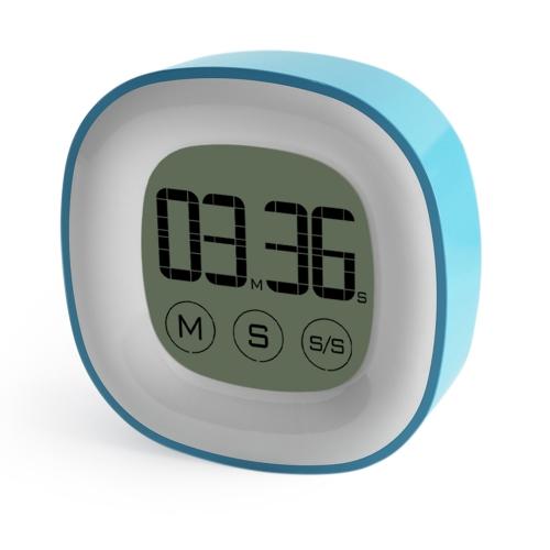 Touch Digital Minuteur Réveil avec Grand Écran LCD Fonction Magnétique Minute Seconde Count Up Compte à Rebours Minuterie Time-Meter pour Cuisson Cuisson Exercice Jeux de Sport Bureau