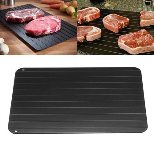 Быстрый и легкий оттаивающий лоток Самый безопасный способ размораживания мяса или замороженных продуктов (L)