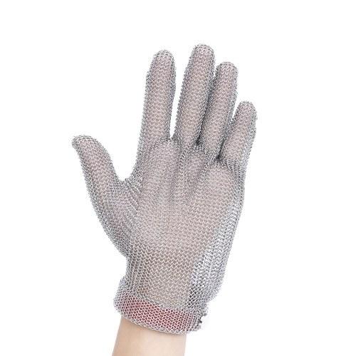Cinto de Plástico Malha de Aço Inoxidável Luva de Corte Resistente Cota de Malha Luva Anti-Corte de Proteção para Cozinha Açougueiro de Segurança de Trabalho