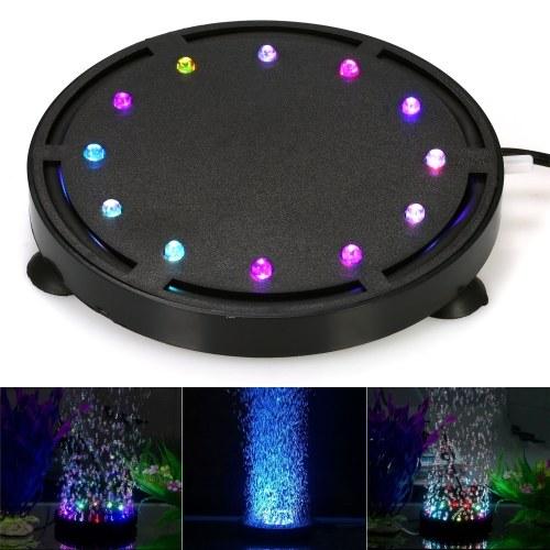 Submersible LED Air Bubble Light Colorful Decoration for Aquarium Fish Tank