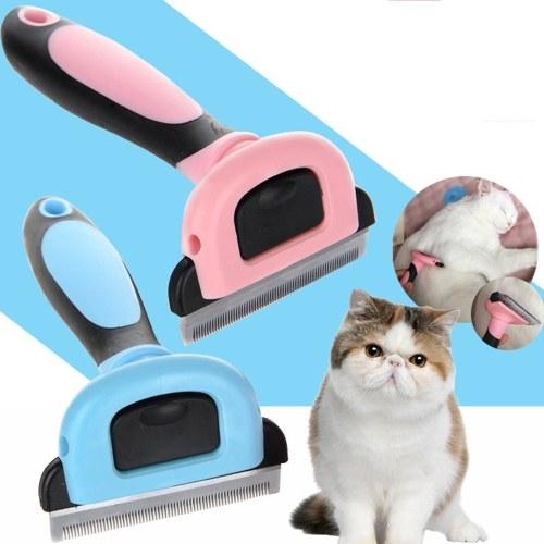 Haustier-Hundekatze-Haar-Kamm-Haar-Abbau-Bürste, die Unhairing-saubere Werkzeuge mit Griff pflegt